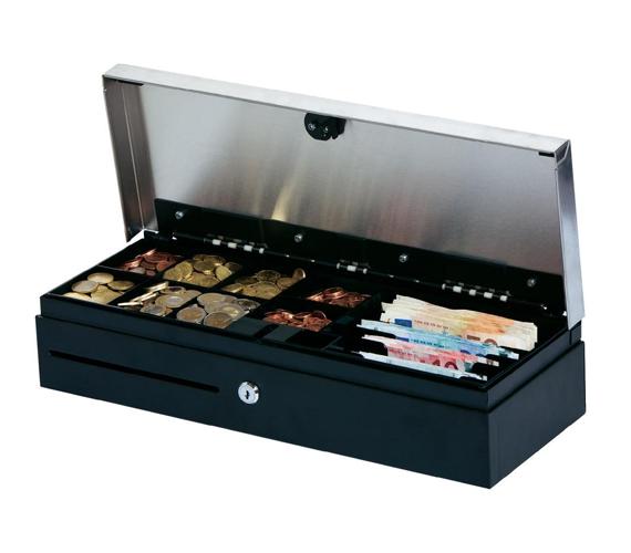 tiroirs caisse 224 ouverture verticale tiroir caisse flip top argent noir